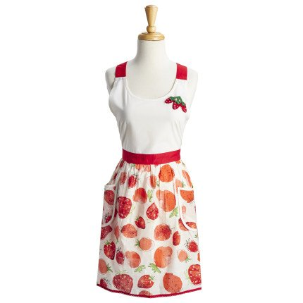 Amazon Com Sur La Table Strawberry Apron 32 X 19 Home