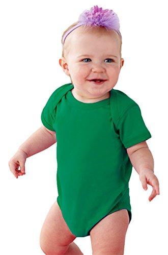 (Rabbit Skins Infants'Fine Jersey Lap Shoulder Bodysuit, 6MOS, KELLY)