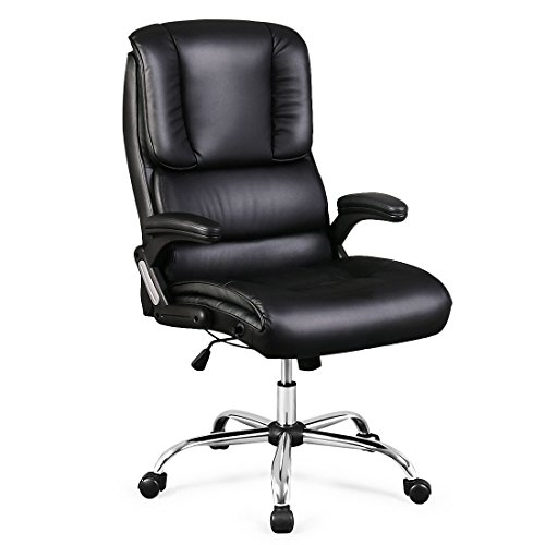 350-lbs-weight-capacity-recline-high-back-office-chair-bonded-leather-hydraulic-swivel-height-adjust