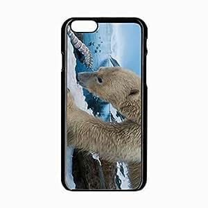 Iphone 5C Black Hardshell Case 4.7inch polar snow rocks Desin Images Protector Back Cover hjbrhga1544