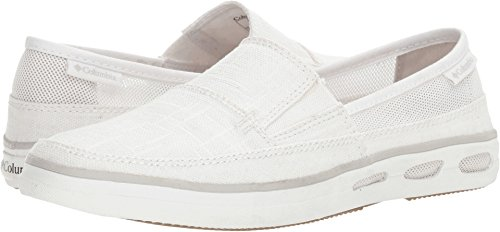 Columbia Women's Vulc N Vent Slip Outdoor Athletic Sandal, White, Cool Grey, 10 B US - Columbia Slip Sandals