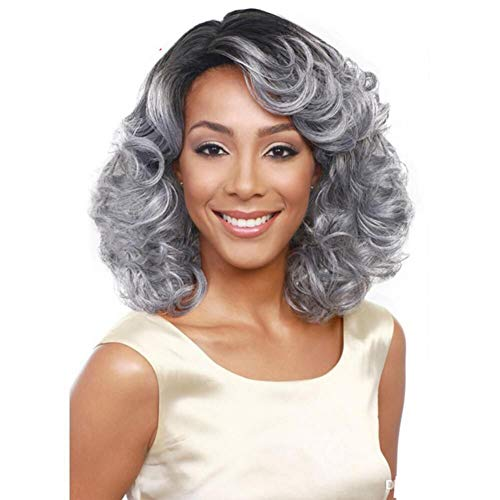 Elderly Wig Female Short Curly Hair For Cosplay/Costume Party Fancy Dress Halloween -