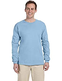 Ultra Cotton 6 oz. Long-Sleeve T-Shirt, 2XL, LIGHT BLUE