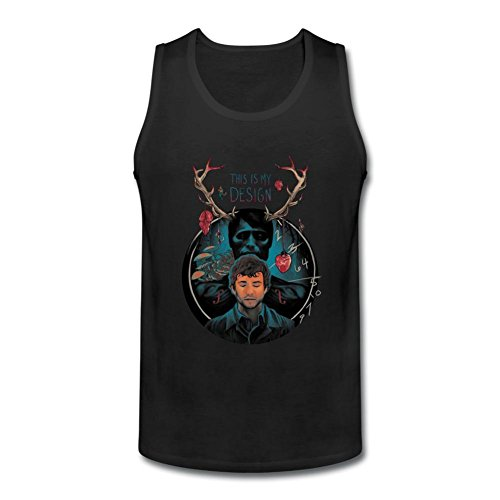 VEBLEN Men's My Design A Deer Design Cotton Tank Top