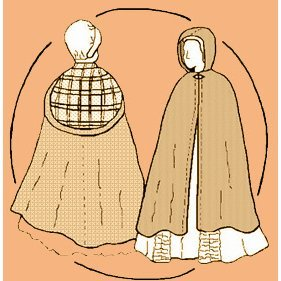 Lady's Cape Pattern. Options for Hooded Cape or Kindsale (Colonial Tailor Costumes)