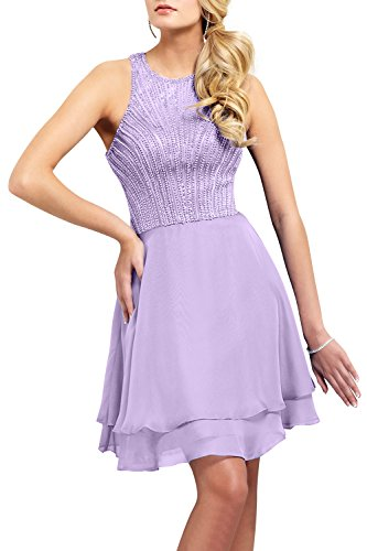 Brau Perlen Abendkleider Lilac Festlichkleider Partykleider Mini Cocktailkleider mia Promkleider Kurz Neu 2018 La 45FRqF