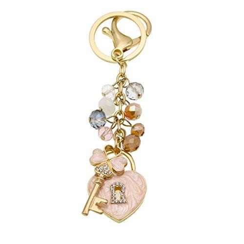 Handbag Decoration - Fashion Lady's Keychain Heart Crystal Rhinestone Key Chain Key Ring Charm Purse Pendant Handbag Bag Decoration Holiday Christmas Gift For Girls (Love keychain)