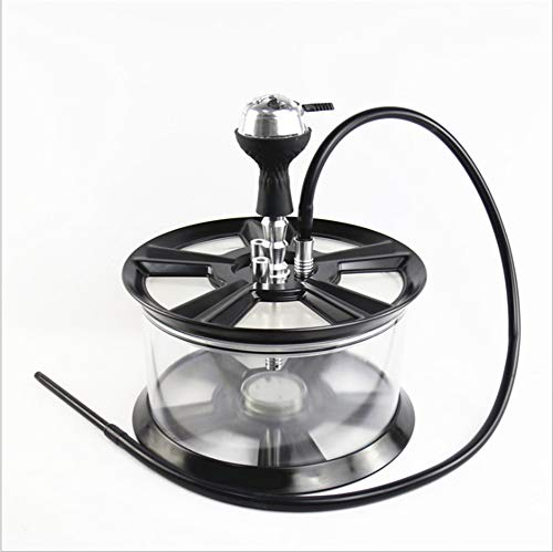 Arabian Perfect Imagination Series 020:Hookah Set with Hoses, Acrylic tire Hookah Hookah Shisha Big Bottle Bottom Tongs Magical LED Light Glass Tobacco 1 Hose Bowl Set