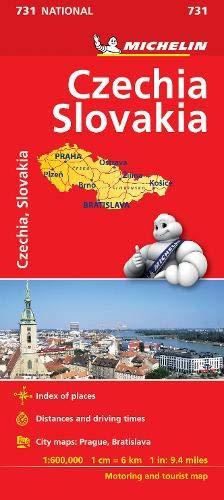 Czech Republic/Slovak Republic - Michelin National Map 731 (Michelin National Maps)