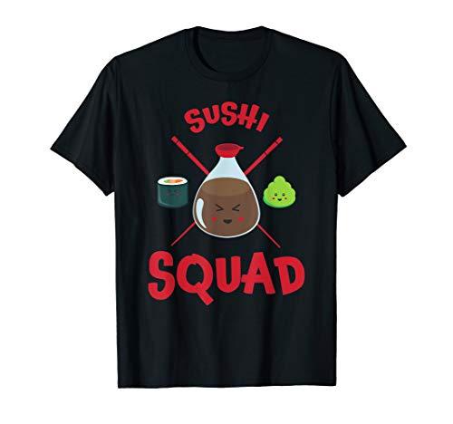 Sushi T-Shirt, Sushi Squad Kawaii Soy Sauce