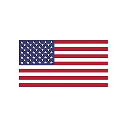 amazon com 4 american flag color sticker decal die cut