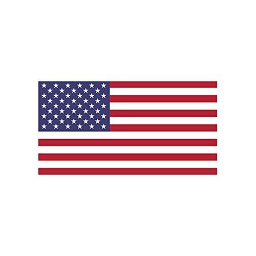 4 american flag color sticker decal die cut