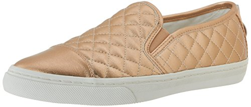 Geox New Club C, Baskets mode femme Gold (Skinc8182)