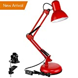 TORCHSTAR Adjustable Swing Arm Desk Lamp, Swop-out Base Or Clamp Red (Small Image)