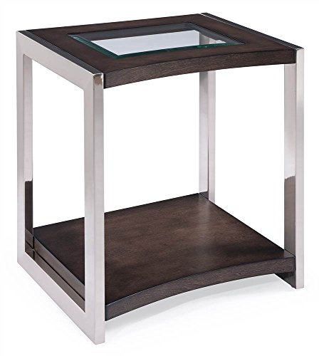 - Magnussen T3729-03 Collection T3729 Lynx Contemporary Brushed Nickel Rectangular End Table