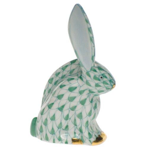 Herend Figurine Rabbit Miniature Green Fishnet ()
