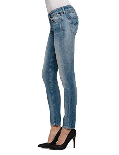 Donna Luz Replay Denim Jeans Blue Blu Skinny 10 light WtWd4vS