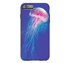 jellyfish storm iPhone 6 Plus Cobalt Blue Tough Phone Case - Design By Humans