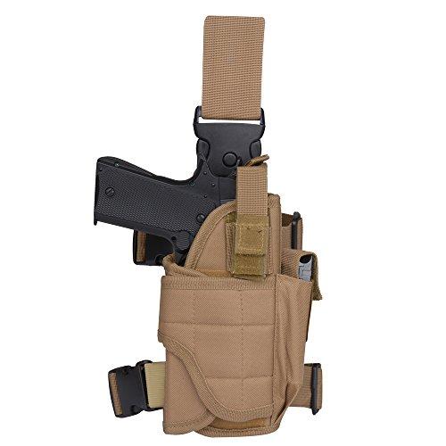 Tactical Leg Holster - Adjustable Pistol Hand Gun Drop Leg Thigh Holster Harness W/ Magazine Pouch Right Handed(Tan Right Leg (Gun Leg Holster With Belt)