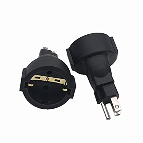 2 Pack Schuko Female To Usa Nema 5 15 Plug Adapter Tekit Eu Europe