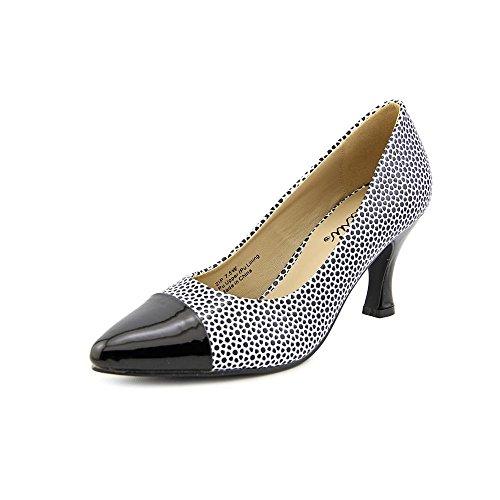 Bellini Womens Zip Slip-On Pointed-Toe Fashion Pumps Black / White q3Tj5grw3O