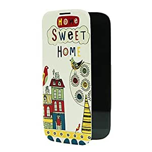 ZCL Sweet Home Design Pattern Plastic Back Cover for Samsung S4