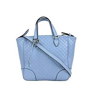 Gucci Women's Light Blue Guccissima Leather Small Crossbody Bag 449241 4503