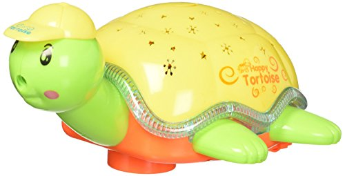 Turtle Toy W/ Projection Flash Electric Battery Operated Turtle Toy For Kids w/ Flashing Lights and Music Sounds, Rotating Bump and Go Action, Safe for Children Flashing Toys