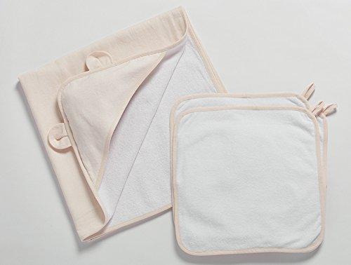 Organic Cotton Linen/Terry Baby Bath Set - Pale Fog