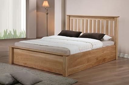 Emporia camas Mónaco roble baúl de almacenaje de cama