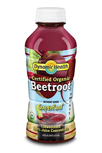 Dynamic Health Certified Organic Beetroot SuperRoot 100% Juice Concentrate | No Additives, Unsweetened, Vegan, Non-GMO | 16oz