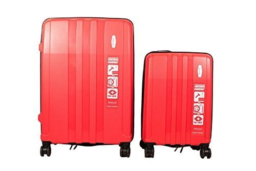 Origami Premium Hard-sided Luggage Set 22'' & 30'' Red 8 Wheels, 2 Piece by Origami