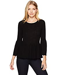 Women's Ribbed Tulip Sleeve Pullover