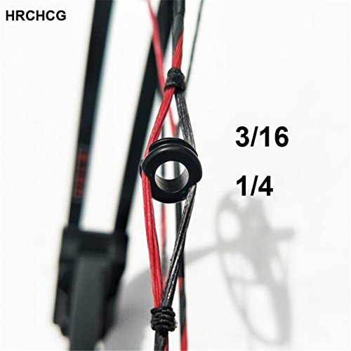 (HRCHCG Archery Compound Bow Peep Sight 1/4 3/16 inch Bow Hunting Bow Sight Accessories Arrow Black Metal Target Sight)