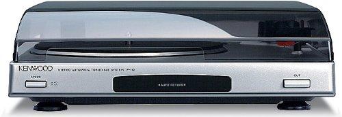 Kenwood Electronics P-110(S) - Tocadiscos (Tocadiscos de tracción por correa, Plata, 33,45 RPM, 65 dB, mm, 0,1%)