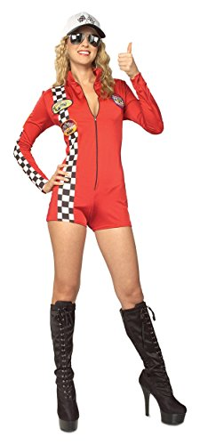Racer Adult Costume Red   Medium