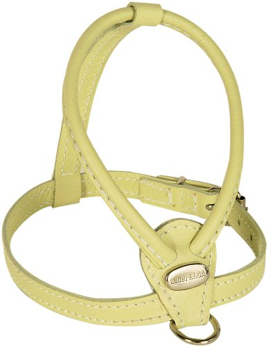 Petego La Cinopelca Soft Calfskin Teacup Dog Harness with Crystals, Sage (Calfskin Harness)