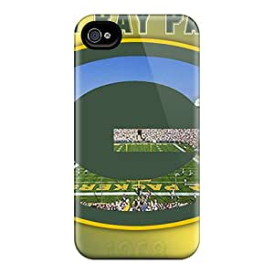 Tpu Fashionable Design Green Bay Packers Rugged Case Cover For Iphone 4/4s New