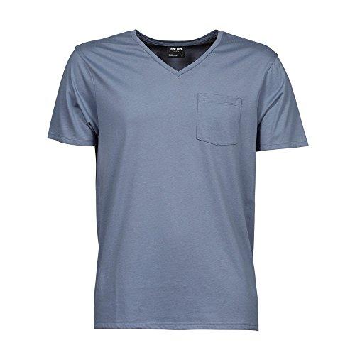 Tee Jays Mens Luxury Short Sleeve V-Neck T-Shirt (L) (Flint Stone) Flint Grey Apparel