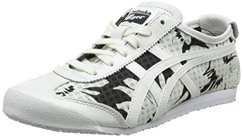 Asics 0101 White White Bianco Donna Sneaker Mexico 66 ZxRqr6Z