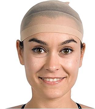 2 redes de pelo en beige (los colores) para pelucas//Wig Cap