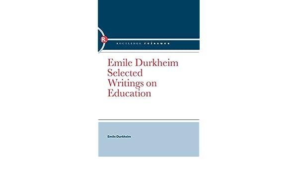 EMILE DURKHEIM SELECTED WRITINGS PDF