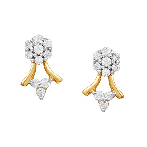 Giantti 14 carats Diamant pour femme Dangler Boucles d'oreilles (0.193 CT, VS/Si-clarity, Gh-colour)
