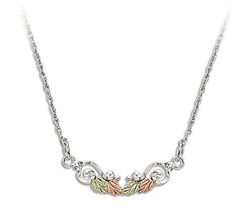 Landstroms Black Hills Silver Necklace with Leaves, 18