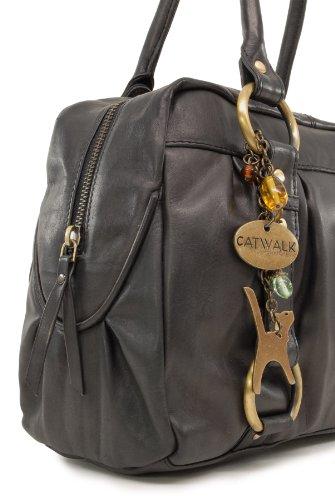 Sac à Catwalk signé Collection cuir Megan Noir en main 4fdxqrnA4
