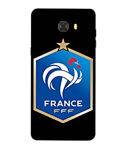 ColorKing Football france 15 Black shell case cover for Samsung C9 Pro