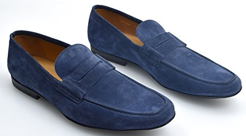 CAMPANILE Man Loafer Moccasin Shoes Blue Or Grey T1422S Mocassino FASCETTA TF BLU INDACO - INDAGO BLUE 7qRPq