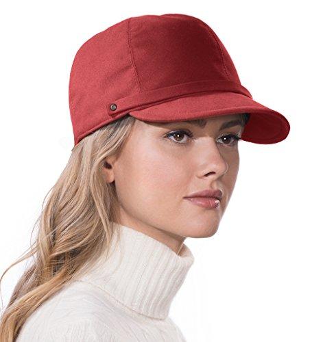 Eric Javits Luxury Fashion Designer Women's Headwear Hat - Mika -Claret by Eric Javits