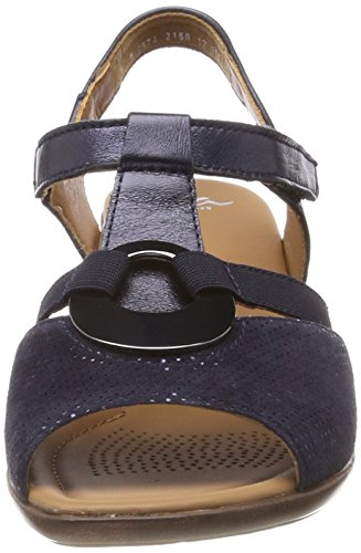 Women's ara Lugano Sandals Blue Blue T Bar PPrzqwTx