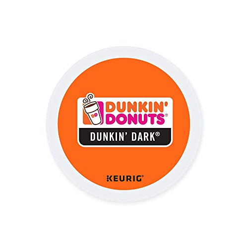 Dunkin Donuts K-cups Dark Roast - 24 Kcups for Use in Keurig Coffee Brewers (Luring Tea)